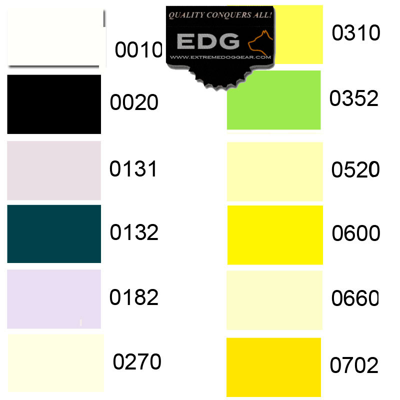 embroidery colors EDG collars