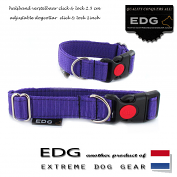 EDG Click Lock Collar 2,5cm - 1 inch purple