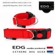 EDG Click Lock Collar 2,5cm - 1 inch tomato red