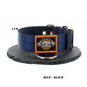 Navy Blue Nylon Collar 4cm - 1.6 inch