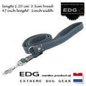 EDG lead 2.5cm - 1 inch - 120cm elephant grey
