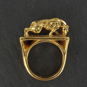 pitbull weight pulling ring 24 krt gold plated