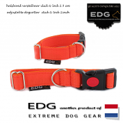 EDG Click Lock Collar 2,5cm - 1 inch orange