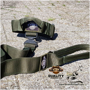 Green Camo Tactical Collar & Leash set - Safe quick release!