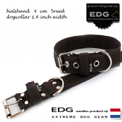 EDG collar 4cm - 1.6 inch chocolate brown