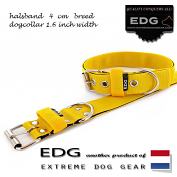 EDG collar 4cm - 1.6 inch Yellow