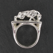 pitbull weight pulling ring silver plated