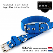EDG collar 4cm - 1.6 inch dutch blue
