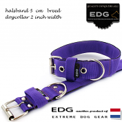 EDG collar 5cm - 2inch purple