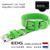 EDG collar 5cm - 2inch apple green