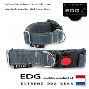 EDG Click Lock Collar 2,5cm - 1 inch elephant grey