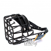 Wire Cage Dog Muzzle rubber covered metal cage