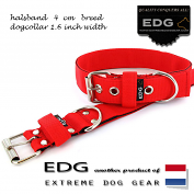 EDG collar 4cm - 1.6 inch tomato red