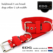 EDG collar 5cm - 2inch tomato red