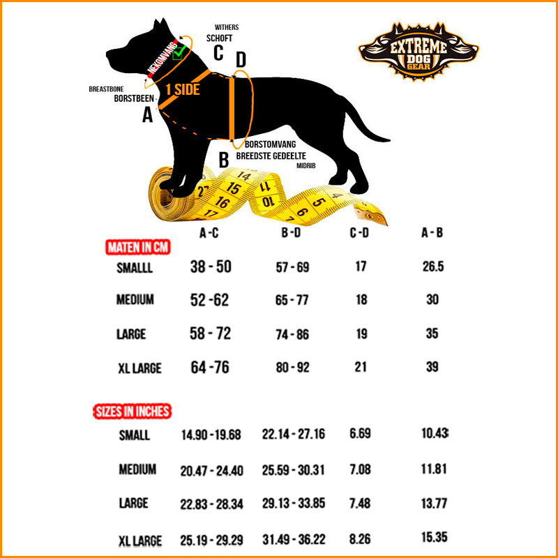 how to measure your dog harness at extreme dog gear